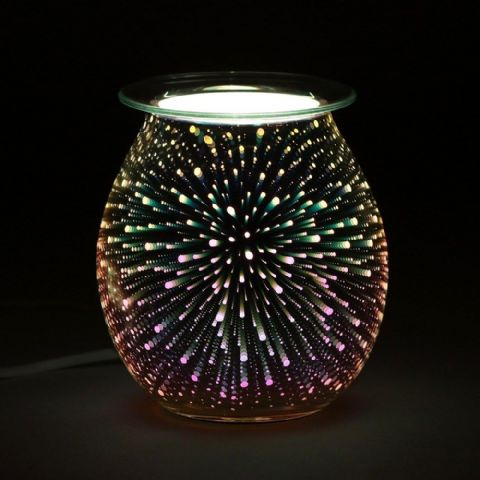 Star Effect Light Up Electric Oil Wax Melts Burner 41138